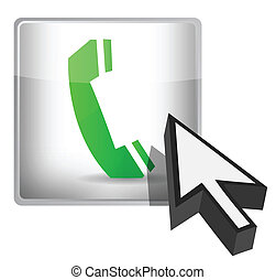 phone button and cursor