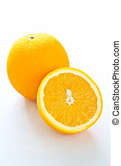 Orange - Fresh whole and halve Orange