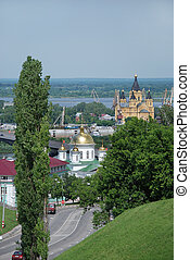 Nizhny Novgorod, Russia - View on the monastery and...