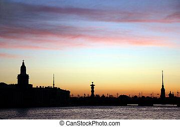 White nights of St. Petersburg, Ru - White night, a night of...