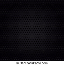 Metallic black perforated background