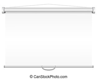 blank portable projection screen illustration isolated on...