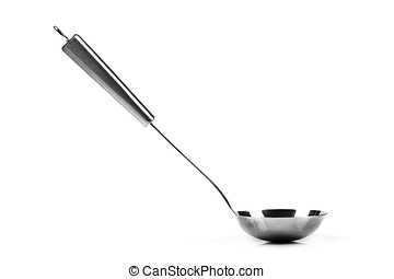 soup ladle isolated on white background