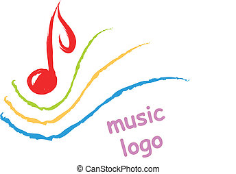 music logo - music symbol clef abstract illustration