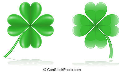 lucky clover illustration isolated on white background