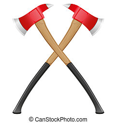 firefighter ax illustration isolated on white background
