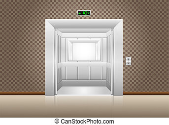 elevator doors open illustration