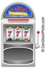 slot machine illustration isolated on white background