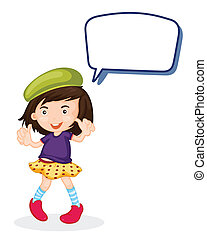 a girl and call out - illustration of a girl and call out on...