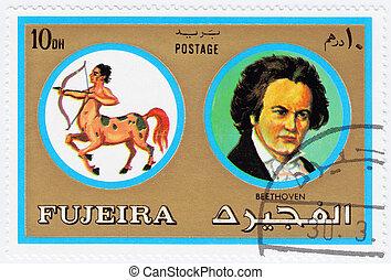 FUJEIRA, -, circa, 1971 年, :, 郵票, 列印, Fujeira,...