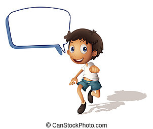 a boy and call out - illustration of a boy and call out on a...