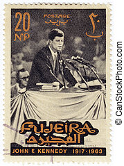 FUJEIRA - CIRCA 1963 : Stamp printed in Fugeira shows 35th...