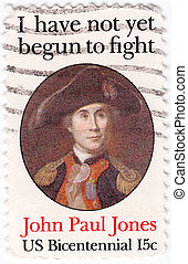 USA - CIRCA 1947: bicentennial John Paul Jones - first...