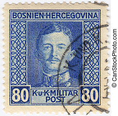 Herzegovina, último, Bosnia, estampilla, casa, Austria,...