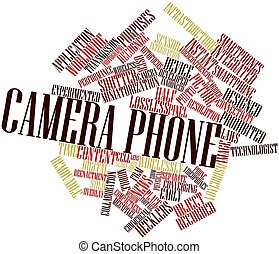 Camera phone - Abstract word cloud for Camera phone with...