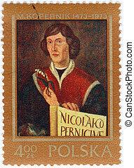 :, Copernicus, selo, -, Polônia, 1973, impresso, nicolaus,...