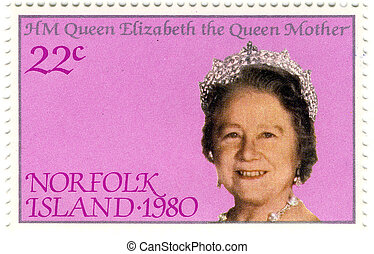 old stamps with Queen Elizabeth The Queen Mother