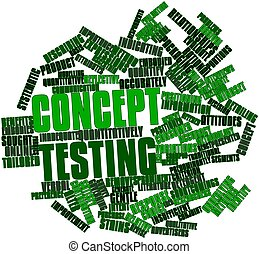 Word cloud for Concept testing - Abstract word cloud for...