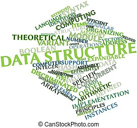 Data structure - Abstract word cloud for Data structure with...