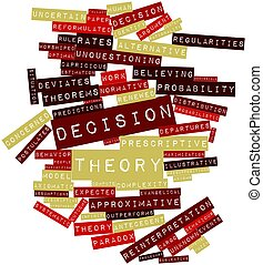 Decision theory - Abstract word cloud for Decision theory...