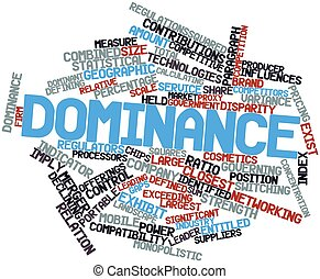 Dominance - Abstract word cloud for Dominance with related...