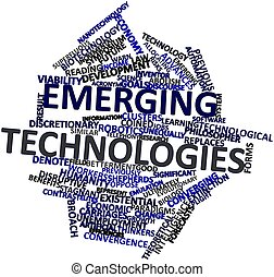 Emerging technologies - Abstract word cloud for Emerging...
