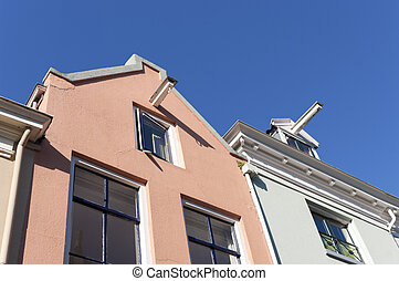 monumental houses - facades of some monumental houses in...