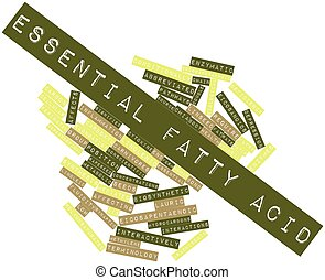 Word cloud for Essential fatty acid - Abstract word cloud...