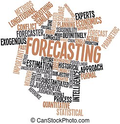 Forecasting - Abstract word cloud for Forecasting with...