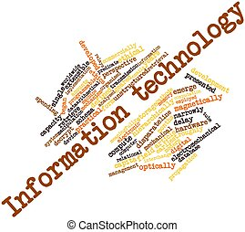 Information technology - Abstract word cloud for Information...