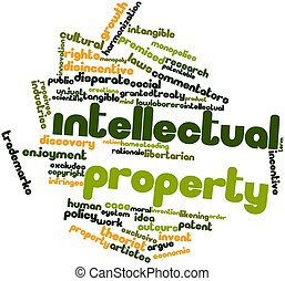 Intellectual property - Abstract word cloud for Intellectual...