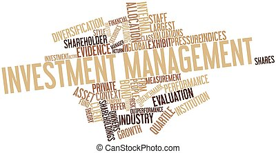Word cloud for Investment management - Abstract word cloud...