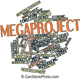 Megaproject - Abstract word cloud for Megaproject with...