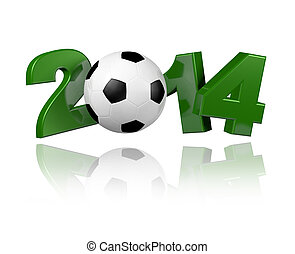 Football 2014 design with a white background