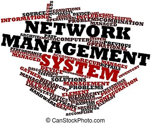 Network management system - Abstract word cloud for Network...