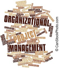 Organizational project management - Abstract word cloud for...