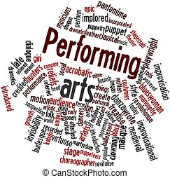 Performing arts - Abstract word cloud for Performing arts...