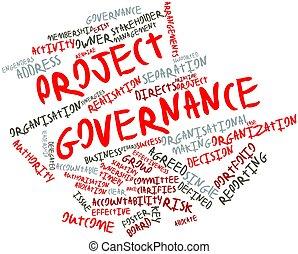 mot, nuage, projet, gouvernement