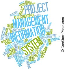 Project management information system - Abstract word cloud...
