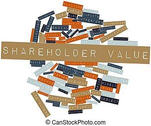 mot, nuage, actionnaire, valeur