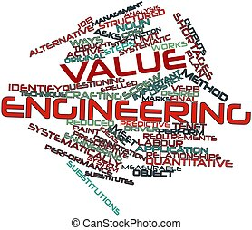 Word cloud for Value engineering - Abstract word cloud for...