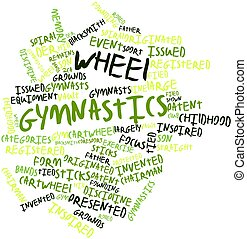 Wheel gymnastics - Abstract word cloud for Wheel gymnastics...