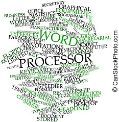 Word processor - Abstract word cloud for Word processor with...