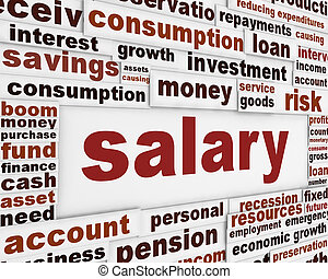 Salary poster design. Personal income message background