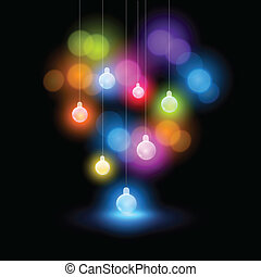 Christmas Lights - A collection of christmas fairy bauble...
