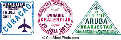 Passport Stamps - Passport stamps of Aruba, Bonaire and...