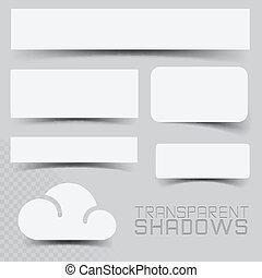 Shadow effects - A Set of Vector Transparent Shadow Effects.