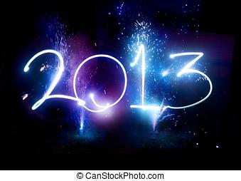 nouveau, année, 2013, fête