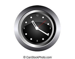Wall Clock isolated on white Vector