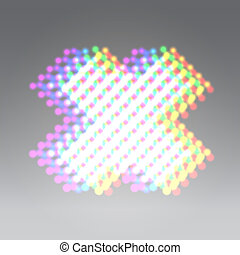 Holographic dots abc - Holographic dots x letter